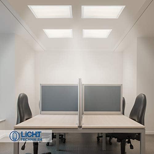 kein UGR19 inkl Rasterleuchten Deckenleuchte 62x62 Energieklasse A+ Netzteil LED Panel 62x62 3600lm ultraslim 36W LED B/ürolampe f/ür Odenwalddecke kaltwei/ß, 1er Pack B/üroleuchten