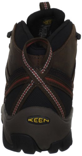 Keen Utility Men's Steel Toe Flint Mid Work Boot, Slate Black/Burnt Henna, 9.5 2E US
