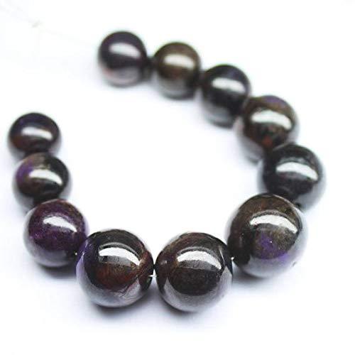 LOVEKUSH BEADS GEMSTONE Purple Sugilite Smooth Round Ball Gemstone Craft Loose Beads Strand 11 pcs 10mm 13mm Code-RR-1672