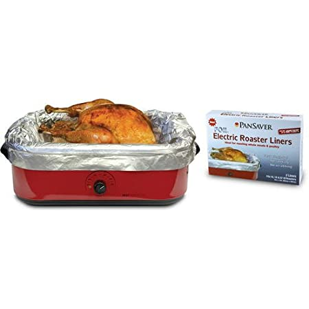 Pansaver Foil Electric Roaster Liners, 3 Box Bundle (6 Liners for Roasters). Fits 16, 18 and 22 Quart Roasters. Best Liners for Roasting Whole Meats.