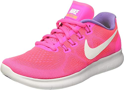 Nike Women's Free Rn 2017 Running Shoes, Pink (Racer Pink/Pink Blast/Bright Mango/Off White), 4 UK 37.5 EU