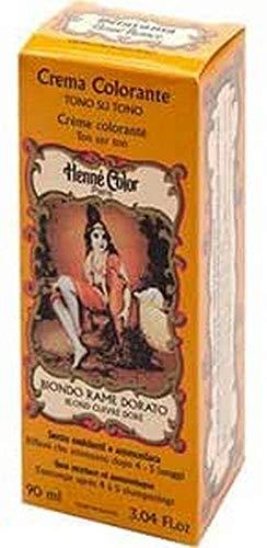 Sitarama Henne Nuance, Hennè Crema Colorante Biondo Rame Dorato - 90ml