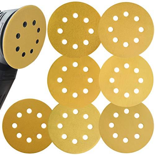 Aewio サンドペーパー #240 - #1000 丸型 8穴あき サンダー用 紙やすり 56枚に7タイプ(240 320 400 500 600 800 1000 各8枚) (240 320 400 500 600 800 1000 各8枚)