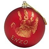 Pallina di Natale personalizzabile con l'impronta della mano del tuo bambino Decorazione albero di Natale da realizzare insieme al tuo bambino: fate il calco della sua mano,scrivete il suo nome o un messaggio di auguri Può essere appesa all'albero di...