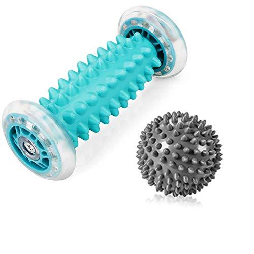 RIGHTWELL Igelball Fußmassage für Plantarfasziitis - Massageball und Fußmassageroller - Schmerzlinderung für Hacken & Fußgewölbe,Stressreduzierung und Entspannung durch Triggerpunkt-Therapie