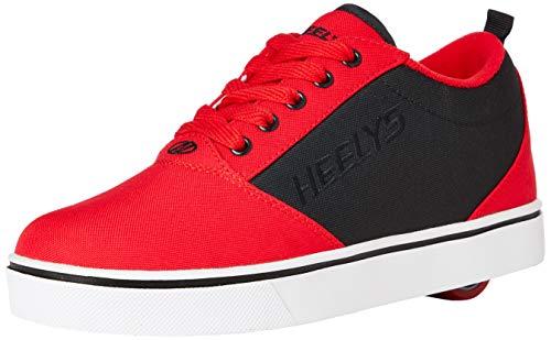 Heelys Pro, Zapatos con Ruedas Niños, Red Black, 20 EU
