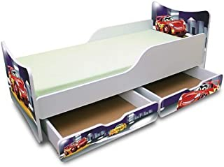Best For Kids CHILDREN S BED with Foam Mattress with T V CERTIFIED 90x180 WITH TWO DRAWERS DESIGNS     Kids     Cars III