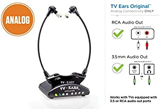 TV Ears Original Wireless Headsets System, TV Hearing Aid Devices works best with Analog TV's, Hearing Assistance, TV Listening Headphones for Seniors and Hard of Hearing. Voice Clarifying, Doctor Recommended - 11641