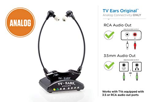 %66 OFF! TV Ears Original Wireless Headsets System, TV Hearing Aid Devices works best with Analog TV...