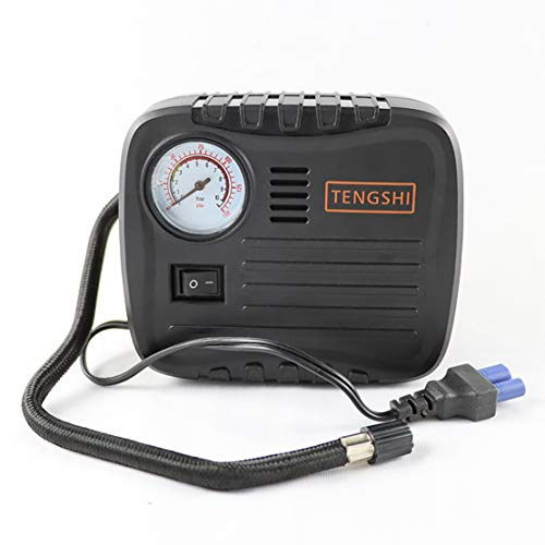 Electric Tire Inflator DC 12V, Portable Air Compressor for Car & Vehicle Tires, Auto Air Pump Digital Tire Pump with Analog Pressure Gauge for Cars, Bicycles, Motorcycles, Balloons or Inflatables