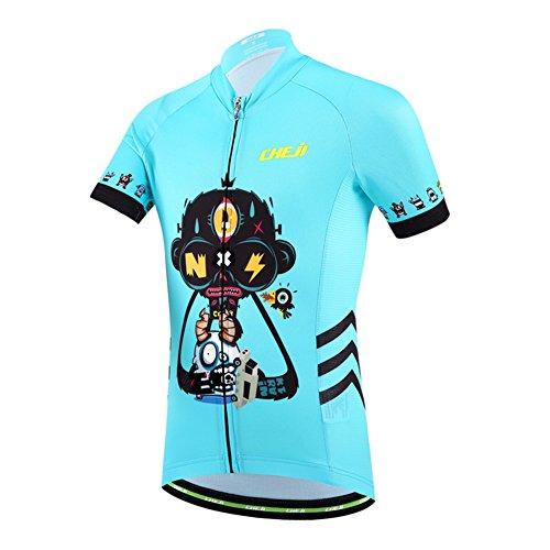 LSHEL Traje de Ciclismo Maillot de Ciclismo Niños Manga Corta Transpirable o Shorts con Asiento Acolchado