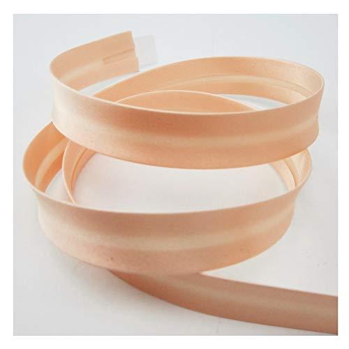 Satin-Schrägband, 18mm, Uni-Farben, Kantenband, nähen, glänzend, Meterware, 1meter (Creme)