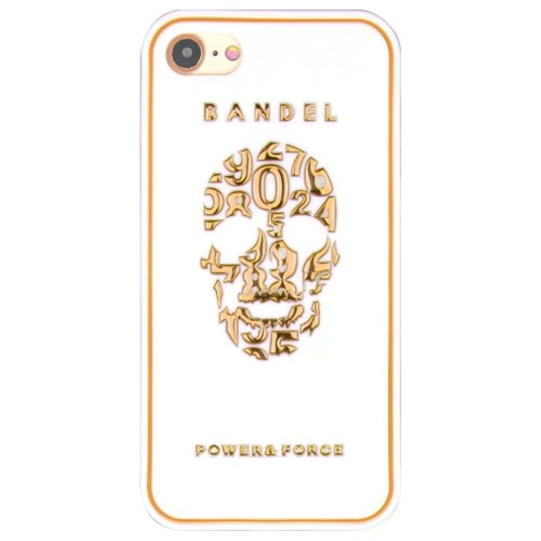アプローチ湖祝福バンデル(BANDEL)iPhone7 ケース スカル[ホワイト×ゴールド]/スマホケース iPhoneケース iPhone用
