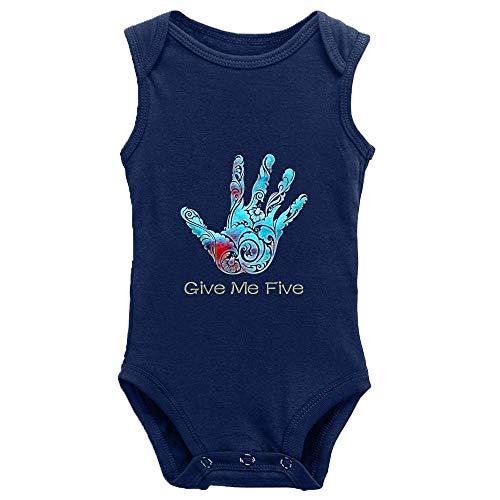 Migsrater Give Me Five - Body de algodón para bebé (manga recién nacida)