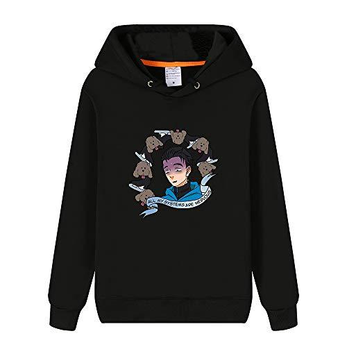 Tjhhkjuo Yuri on Ice Pullover Personalizar Estilo de la Universidad Sudadera con Capucha de Ocio Flojo suéter de la Manera Hombres Unisex (Color : E20, Size : S)