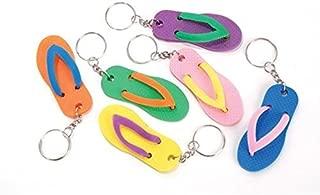 happy deals Luau flip Flop Sandal Keychains - Bulk Pack of 24 Luau Party Favors