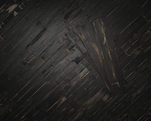 mywoodwall 3D Wandverkleidung Holz Schwarz Selbstklebend Deep Space Moderne Wandpaneele Vintage Umweltfreundlich 1 Paket a´ 0,98 m²