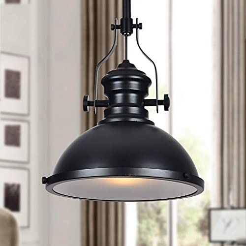 GIOAMH Lámpara colgante de metal vintage industrial de 13 'Iluminación contemporánea Montaje semi empotrado Accesorio de techo Lámpara colgante de hierro