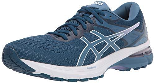 ASICS Women's GT-2000 9 Running Shoes, 7M, MAKO Blue/Grey Floss