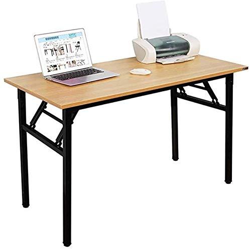 ACCDUER Escritorio de computadora Escritorio de la computadora portátil 120x60cm Mesa Plegable Mesa de Comedor del Hotel Reunión Oficina de Formación Mesa de Camping Mesa de Desayuno