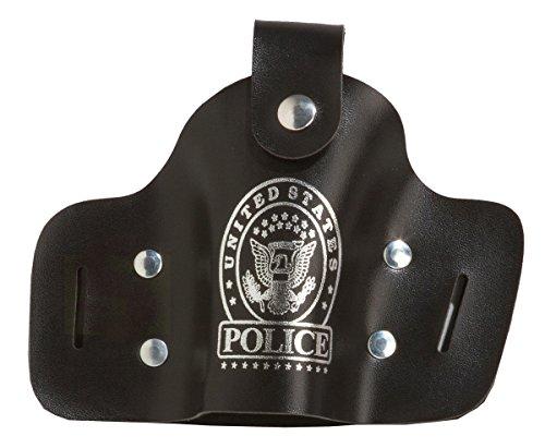 Rubie's 6342447-STD Polizeitasche Tasche Polizei Holster Polizeiholster Pistolentasche Lederoptik, Schwarz
