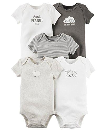 Carter's Pack de 5 monos para bebé (bebé) - Little Lamb Mix NB