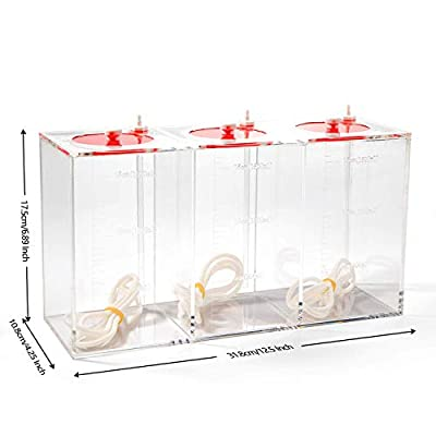 Aquarium Choice Acryli Made Liquid Storage Bucket 3 Rooms Doing Pump Reservoir Container