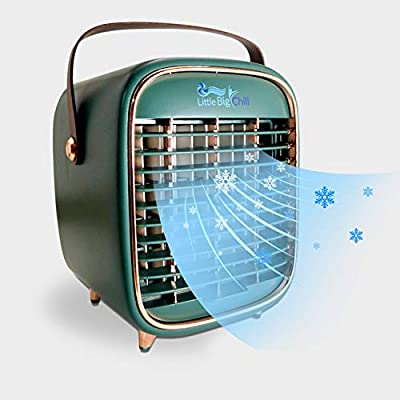 Little Big Chill Portable Personal Air Conditioner, Rechargeable Cordless Mini Air Cooler/Humidifier Designed for Home, Office, Bedroom and Car. Ideal for Camping, Tailgating, The Beach