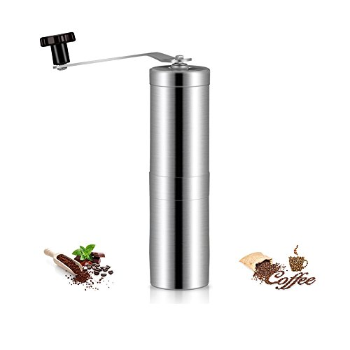 Manual Coffee Grinder Stainless Steel Portable Coffee Bean Grinding Miller Coffee Mill By Rely2016