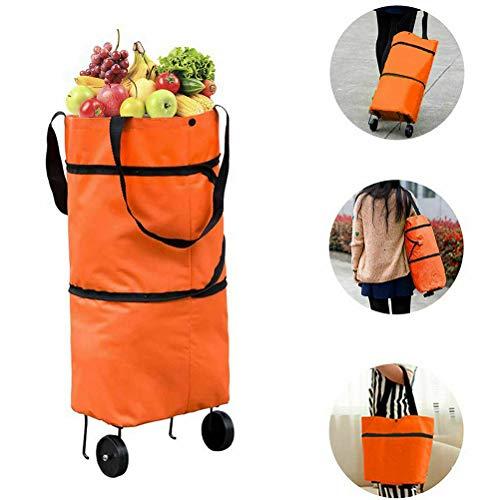 Shopping bag Wheels, Blacgic shopping bag with wheels, foldable, multifunctional, portable shopping bag Reusable shopping bag