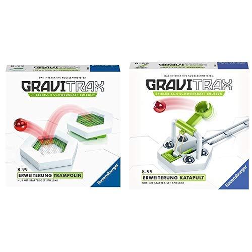 GraviTrax 27613 Trampolin Spielzeug, bunt & 27591 Katapult Konstruktionsspielzeug