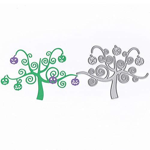 Xmiral Prägeschablonen Scrapbooking Stanzschablone,Bäume Blume Gras Mond(I)