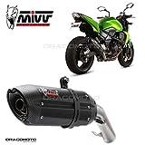TUBO ESCAPE MIVV KAWASAKI Z 750 Z750 SUONO STEEL BLACK 2007 2008 2009 2010 2011 2012 2013 ...