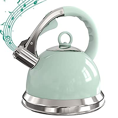 3 Litre Whistling Tea Kettle Stovetop Stainless Steel Teapot with Loud Whistle, Anti-Rust and Anti-heat Handle