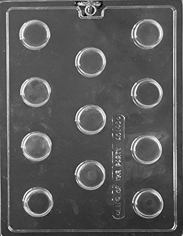 Mini Plain Cookie Chocolate Mold AO146 Includes National Cake Supply Melting Chocolate Molding Instructions