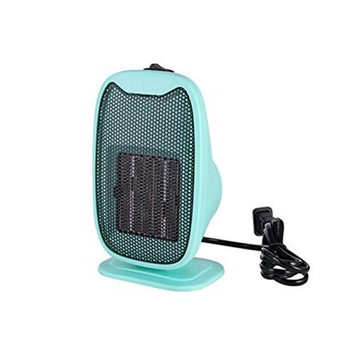 HLTL Calentador Eléctrico De Escritorio Doméstico De 500 W, Mini Ventilador Portátil De Calentador De Aire,Calentador De Calentador De Radiador De Calentamiento Rápido De Ahorro De Energía 220V,Azul