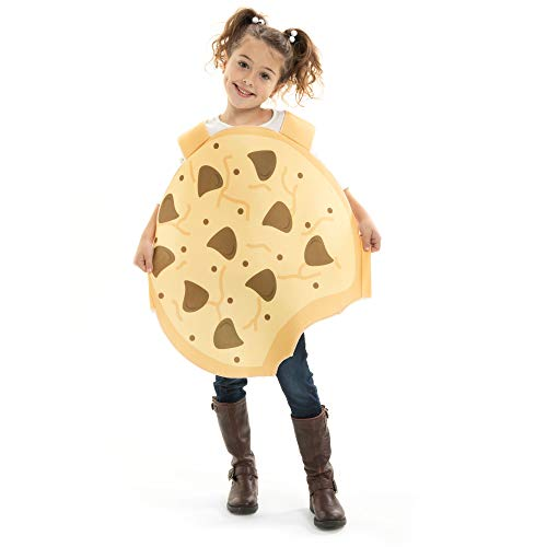 Crumbly Cookie Children's Halloween Costume – Funny Food Kids Outfit (Youth Small (3-4))