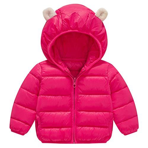 Donsjas voor kleine kinderen, baby, jongens, meisjes, winterjas, gewatteerde jas, lichtgewicht gewatteerde jas 12-24 Maanden A