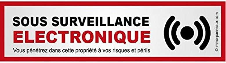 14 x 4 cm Sticker avec Texte Propriete sous Video Surveillance immo-panneaux.com Autocollant Video Surveillance