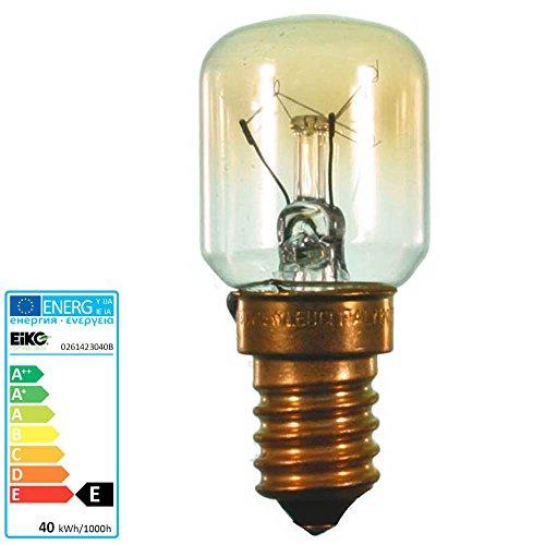 S+H Backofenlampe Birnenform 26x57 mm Sockel E14 230 Volt 40 Watt 300 Grad