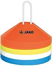 JAKO Equipment markeringshoedjes set van 40, rood/geel/wit/blauw, 19 cm