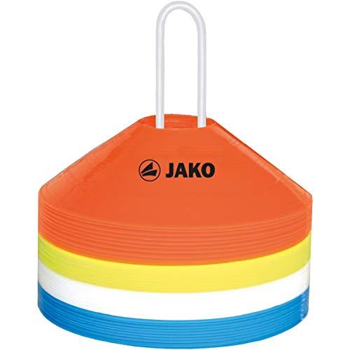 JAKO Equipment Markierungshütchen 40er Set, Rot/Gelb/Weiß/Blau, 19 cm