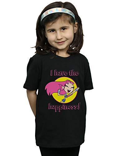 DC Comics Niñas Teen Titans Go I Have The Happiness Camiseta Negro...