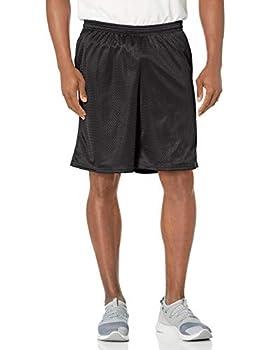 Hanes Sport Men s Mesh Pocket Short Ebony Large