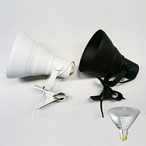 LED電球付き クリップライト 照明 業務用 オフィス 工場 現場 作業用 ライト クリップライト ワークライト 黒 昼白色