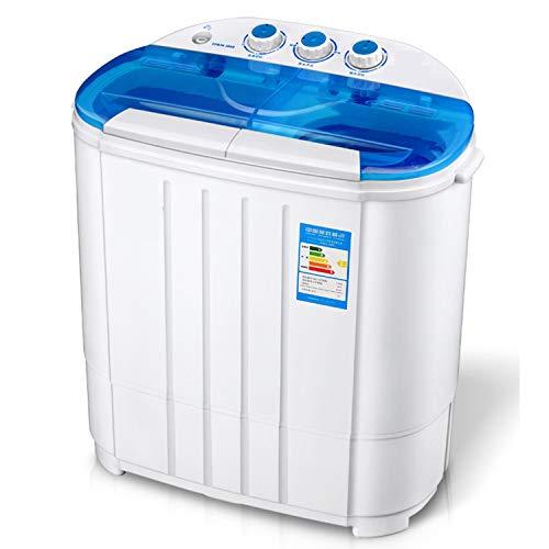 Mudo Lavadora Electrodomésticos Grandes, Mini Lavadora portátil, Secadora de Ropa for niños, Secadora, Dormitorio, menaje, Lavadora de deshidratación for pequeñas Madres y bebés (tamaño : Azul)