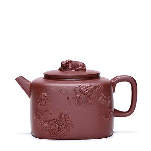 YYFUS Tea Maker Pot Crouching Tiger Hidden Dragon Yixing Teapot Tea cup Bottom Slot Of Pure Handmade Famous Teapot (Color : Bottom clearance, Size : One Size)