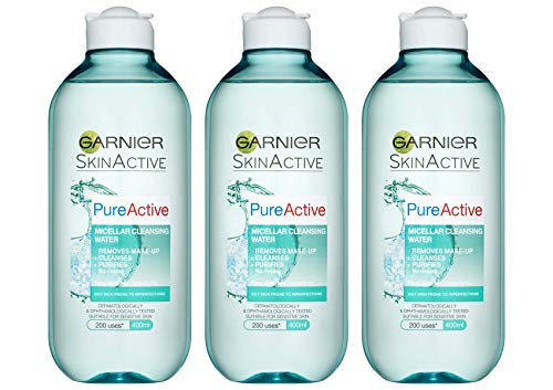 Garnier Pure Active Micellar Facial Cleansing Water for Combination, Oily...