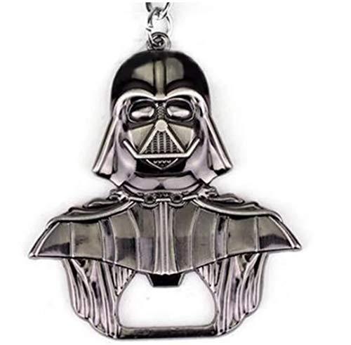 WOO LANDO Darth Vader flesopener als sleutelhanger, zwart glanzend, solide afwerking 55 mm x 60 mm, voor de huisbar, onderweg - grappig cadeau voor Star Wars-fans