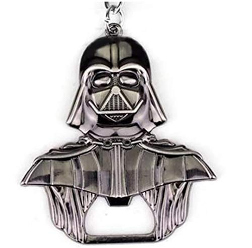 WOO LANDO Darth Vader Bottle Opener Key Ring Black Glossy Solid Finish 55 mm x 60 mm for The Home Bar on The Go Funny Gift for Star Wars Fans